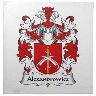 Escudo de la familia de Alexandrowicz Servilletas Imprimidas