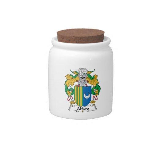 Escudo de la familia de Alfaro Platos Para Caramelos