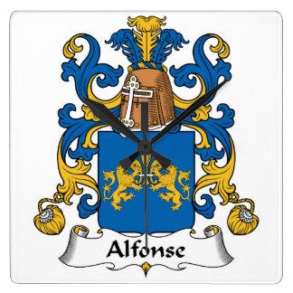 Escudo de la familia de Alfonse Relojes De Pared