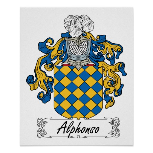 Escudo de la familia de Alfonso Poster
