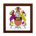 Escudo de la familia de Alfred Caja De Joyas