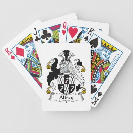 Escudo de la familia de Alfrey Baraja De Cartas