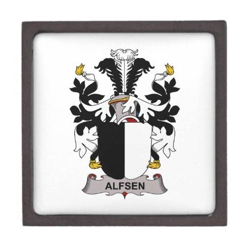 Escudo de la familia de Alfsen Cajas De Regalo De Calidad