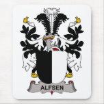 Escudo de la familia de Alfsen Alfombrillas De Ratón