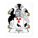 Escudo de la familia de Algeo Tarjeta Postal
