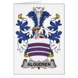 Escudo de la familia de Algudsen Felicitacion