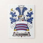 Escudo de la familia de Algudsen Rompecabezas Con Fotos