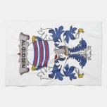 Escudo de la familia de Algudsen Toalla De Mano