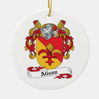 Escudo de la familia de Alison Adornos De Navidad