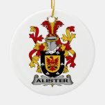 Escudo de la familia de Alister Adornos