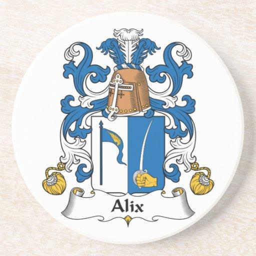 Escudo de la familia de Alix Posavasos Personalizados