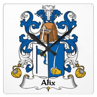 Escudo de la familia de Alix Reloj