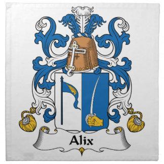 Escudo de la familia de Alix Servilletas Imprimidas