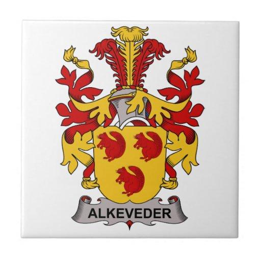 Escudo de la familia de Alkeveder Azulejo Cuadrado Pequeño