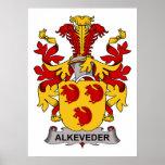 Escudo de la familia de Alkeveder Posters