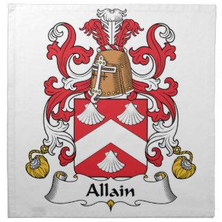Escudo de la familia de Allain Servilletas