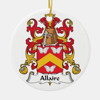 Escudo de la familia de Allaire Adornos