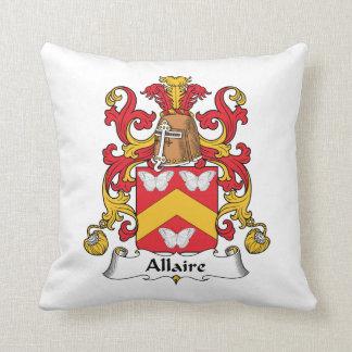Escudo de la familia de Allaire Cojines