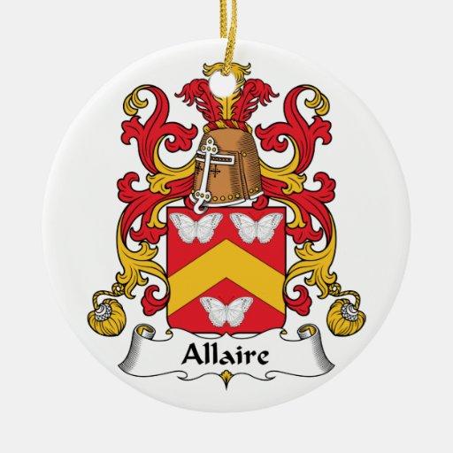 Escudo de la familia de Allaire Adorno Redondo De Cerámica