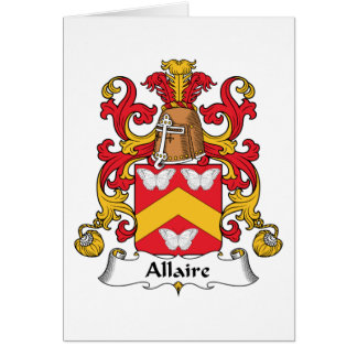 Escudo de la familia de Allaire Felicitacion
