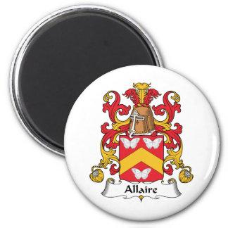 Escudo de la familia de Allaire Iman Para Frigorífico