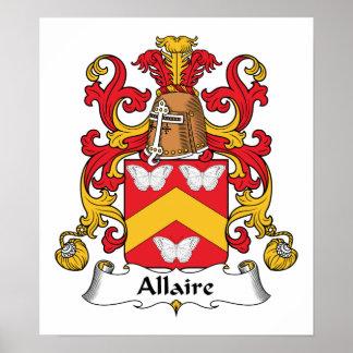 Escudo de la familia de Allaire Impresiones