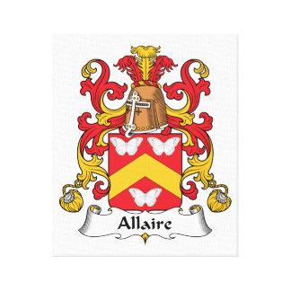 Escudo de la familia de Allaire Impresión En Lona Estirada