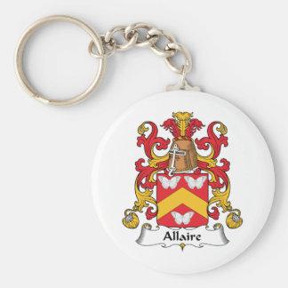 Escudo de la familia de Allaire Llavero