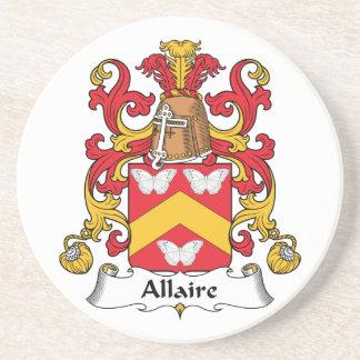 Escudo de la familia de Allaire Posavasos Manualidades