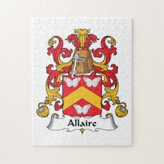 Escudo de la familia de Allaire Rompecabezas