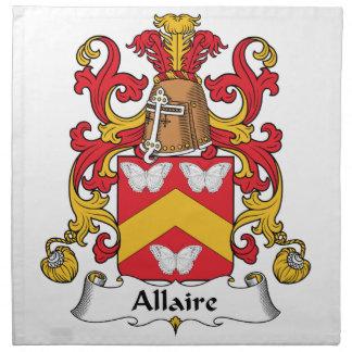 Escudo de la familia de Allaire Servilletas De Papel
