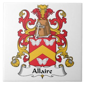 Escudo de la familia de Allaire Teja Cerámica