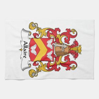 Escudo de la familia de Allaire Toalla