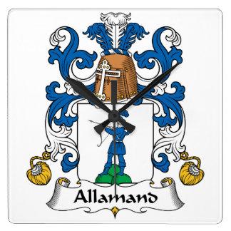 Escudo de la familia de Allamand Relojes