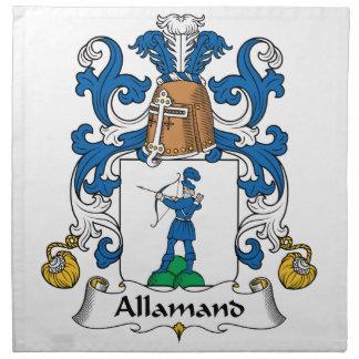 Escudo de la familia de Allamand Servilletas