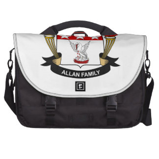 Escudo de la familia de Allan Bolsas Para Portátil