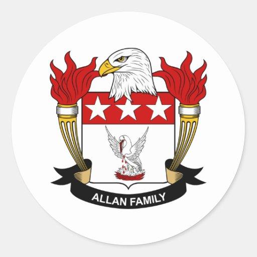 Escudo de la familia de Allan Etiqueta