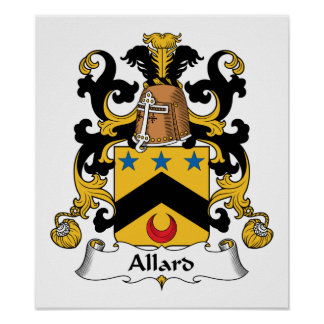 Escudo de la familia de Allard Posters