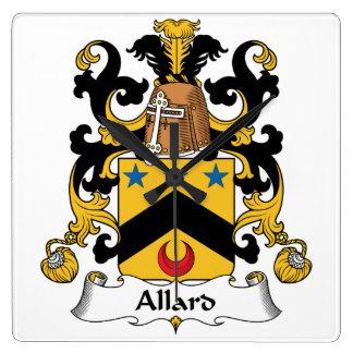 Escudo de la familia de Allard Relojes De Pared