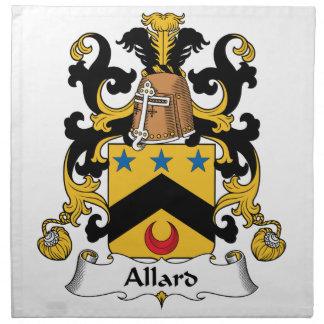 Escudo de la familia de Allard Servilleta Imprimida