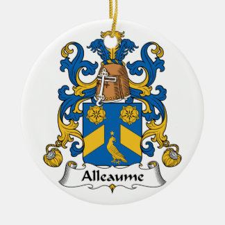 Escudo de la familia de Alleaume Ornamentos Para Reyes Magos