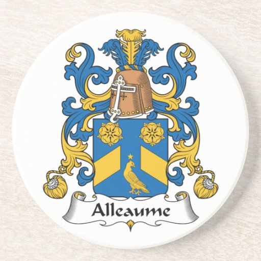 Escudo de la familia de Alleaume Posavasos Cerveza