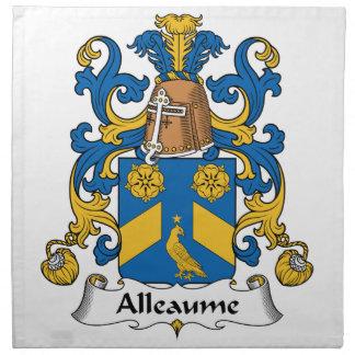 Escudo de la familia de Alleaume Servilleta De Papel