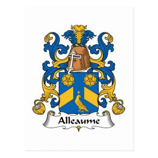 Escudo de la familia de Alleaume Postal