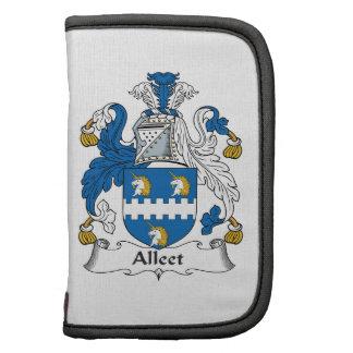 Escudo de la familia de Alleet Organizadores