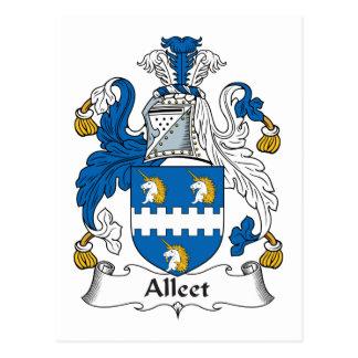 Escudo de la familia de Alleet Postales