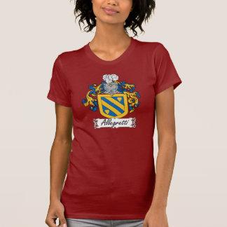 Escudo de la familia de Allegretti Camiseta