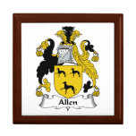 Escudo de la familia de Allen Caja De Recuerdo
