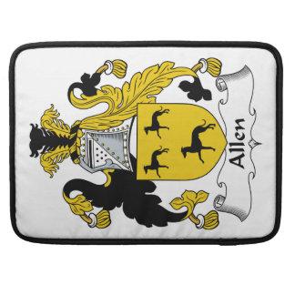 Escudo de la familia de Allen Funda Para Macbooks