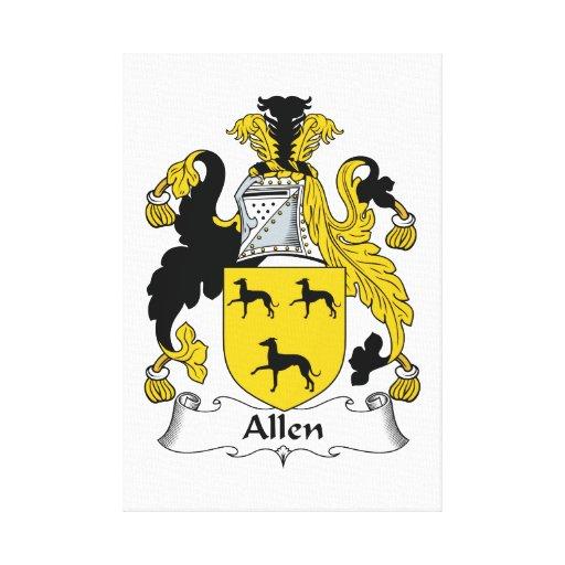 Escudo de la familia de Allen Impresion En Lona